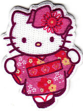 HELLO KITTY w/PINK HAIR BOW - IRON ON APPLIQUE PATCH - CARTOON CHARACTER - MOVIE