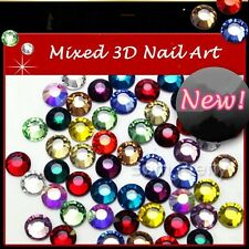 50Pcs/set 28 Colors 3D Nail Art Mixed Rhinestone Gems Crystals DIY Decoration