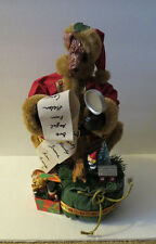 Terrier Dog In Santa Clause Suit Naughty Nice List Figurine Decoration
