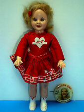"""VTG MARY HARTLINE SUPER CIRCUS DOLL 8"""" IDEAL TV SHOW 1950's & CANADA DRY PINBACK"""
