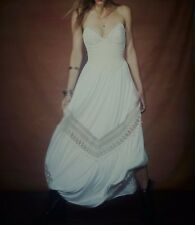 NWOT FREE PEOPLE x JENS PIRATE BOOTY Crochet Lace Strapless Maxi Dress  ☮ SMALL