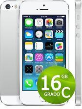 APPLE IPHONE 5S 16GB BIANCO SILVER USATO + ACCESSORI + GARANZIA 12 MESI - GRIGIO
