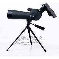 GOMU 20-60x60 Zoom Spotting Scope With Tripod + Cell Phone Adapter +Sunshade