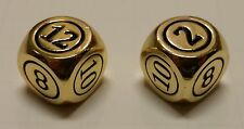 2x Command Zone Metal Dice Gold Color for Commander EDH Tiny Leaders Magic MTG