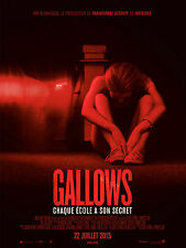 Affiche 120x160cm GALLOWS 2015 Cassidy Gifford, Pfeifer Brown, Ryan Shoos NEUVE