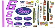 #6 Max Razo Roses 2013 Mustang 1/25th - 1/24th Scale Waterslide Decals