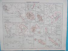 Map of French Colonies. c1900. Librairie Hachette de Paris.Original FRANCE WORLD
