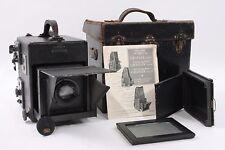 Graflex R. B. Series D 4 1/4X 3 1/4 Camera W/ Zeiss Jena Tessar F/4.5 15cm Lens