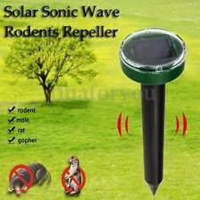 SOLAR POWERED GROUND RODENT MOLE MICE MOUSE RAT REPELLER ULTRA SONIC OUTDOOR