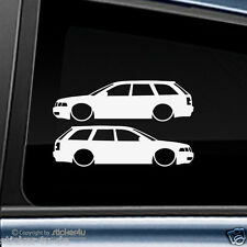 (848) 2x Fun Sticker Aufkleber  low and slow Audi A4 B5 Avant RS4