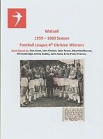 WALSALL 1959-1960 RARE ORIG HAND SIGNED TEAM GROUP X 8 SIGNATURES