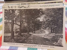 Old Post Card Monticello Hurleyville road near Rosemont Hotel NY New York  WOW