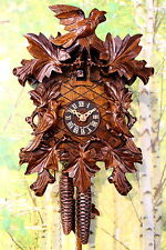 cuckoo clock black forest 1 day  german wood carved mechanical new original top