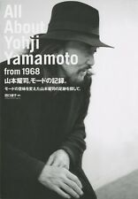 ALL ABOUT YOHJI YAMAMOTO FROM 1968 JAPAN Fashion Design YOJI BOOK With Tracking