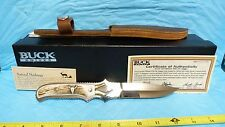 BUCK CUST FIX BLADE BUFFALO BONE KOJI KNIFE LE 181/250 BOX SHEATH INCERTS #26