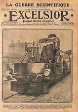 Armored Locomotive Blindée Machine gun Austria Army Galicia Poland  WWI 1915