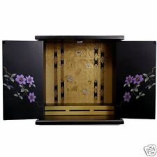 Japanese Butsudan household family Buddhist altar Lotus Clematis made in Japan L