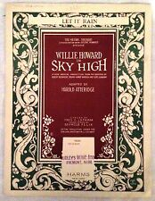 Let It Rain-Sheet Music-1924-Willie Howard in Sky High-J.J. Shubert