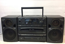 Panasonic RX-DT670 Portable AM/FM, Dual Cassette, CD BoomBox - Works