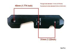 SERIE AK sovietica Tactical Side Rail Mount PIASTRA ACCIAIO Heavy Duty BLACK Veloce UK