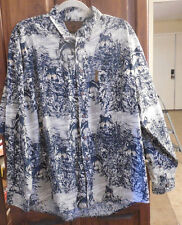 North River Outfitters Men's Wolf Print Shirt Hunting  Long Sleeve Size L-XL