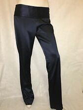 Theory Navy Blue Satin Strait Leg Dress Pants size 8 acetate polyamide elastane