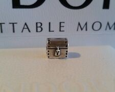 AUTHENTIC PANDORA RETIRED Charm Bead 790425 Treasure Chest Sterling Silver
