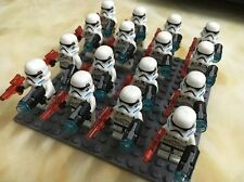 New CLONE Minifig STAR WARS TROOPER w/blaster 16 set/Lot with floor Fit LEGO