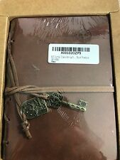 Journal Write Diary String Key Leather Notebook Brown Blank Paper