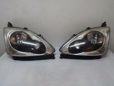 JDM 02-04 Honda Civic Type-R EP3 EU1 EU3 K20A Headlights Headllamp Light Lamp x2