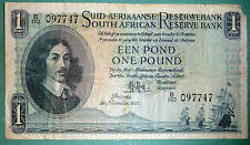 SOUTH AFRICA 1 POUND NOTE ISSUED 30.11. 1951, P 84 a