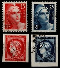 CERES New Look de 1949, Oblitérés = Cote 16 € / Lot Timbres France 830 à 833