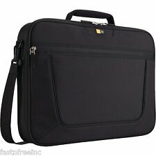 "Case Logic 17.3"" Inch Laptop Case Portable Travel Strap Black Bag Organizer 17"""