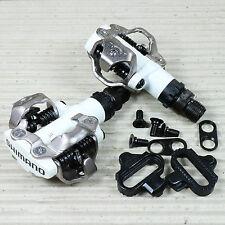 """SPD Pedal Shimano PD-M 520 zweiseitig weiß - SH-51 Cleat - 9/16""""  ohne Reflektor"""