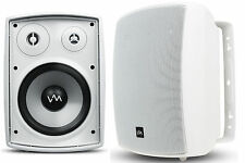 VM Audio 260W Waterproof Indoor/Outdoor Porch Speaker Pair Set, White | SR-WOD5