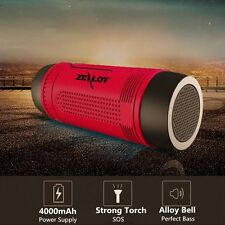 5in1 Wireless shockproof Waterproof Flashlight FM Power Bank Bluetooth Speaker