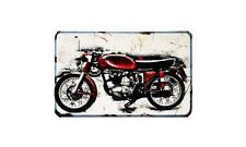 Ducati 125 Sport Motorbike Sign Metal Retro Aged Aluminium Bike