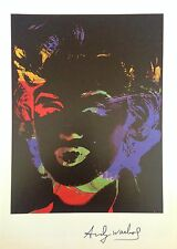 CHIC ANDY WARHOL HAND SIGNED * REVERSAL SERIES: MARILYN *  PRINT  W/ C.O.A.