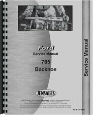 Ford 765 Backhoe Attachment Service Manual FO-S-765BKH