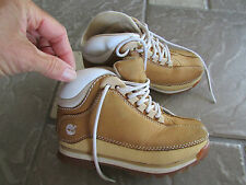 TIMBERLAND SHOE BOOTS COGNAC LEATHER LACE UP BOYS 11  FREE SHIP