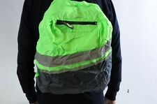 WOWOW BACKPACK, RUCKSACK HI VIZ VIS REFLECTIVE COVER GREEN FLUORESCENT BARGAIN