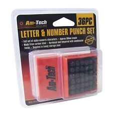 36pc - 6mm numero & lettera Punch Set Box TIMBRO METALLO ACCIAIO strumento timbratura LEGNO
