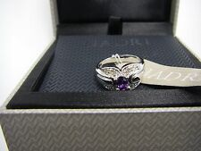 NEW Nadri Cubic Zirconia Ring Size 6.5 - 7 Clear & Purple Crystals - BOXED GIFT
