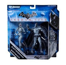 "DC comics Arkham BATMAN & CATWOMAN 6"" Variant Toy Figure Set"