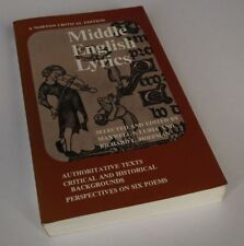 Richard Hoffman: MIDDLE ENGLISH LYRICS