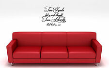 "26"" TWO SOULS SINGLE TOUGHT HEARTS QUOTE VINYL DECAL STICKER"
