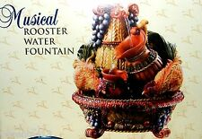 """Classic Treasures Wind-Up Musical Rooster Water Fountain """"Waltzing Matilda"""" NIB"""