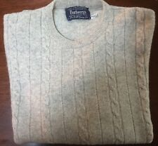 Vintage Burberrys Cashmere Sweater Made In Scotland For Harrods Ladies 102cm