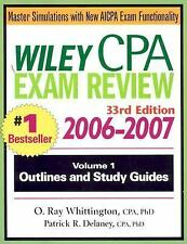 Wiley CPA Examination Review 2006-2007, 33rd Edition (2 Volume Set)