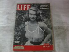 Vintage Life Magazine June 23rd 1952 Mail Order Fashions Published By Time mg449